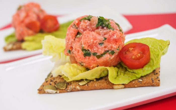 Salmon and Whole Wheat Mixed Seed Crackers